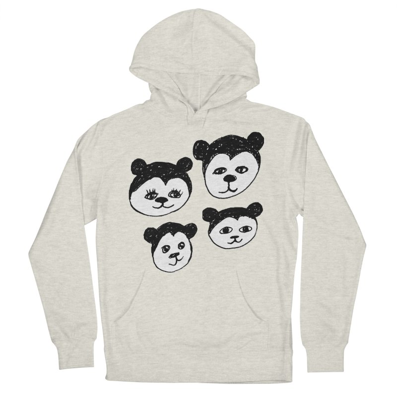 Panda Heads Men's Pullover Hoody by Cowboy Goods Artist Shop
