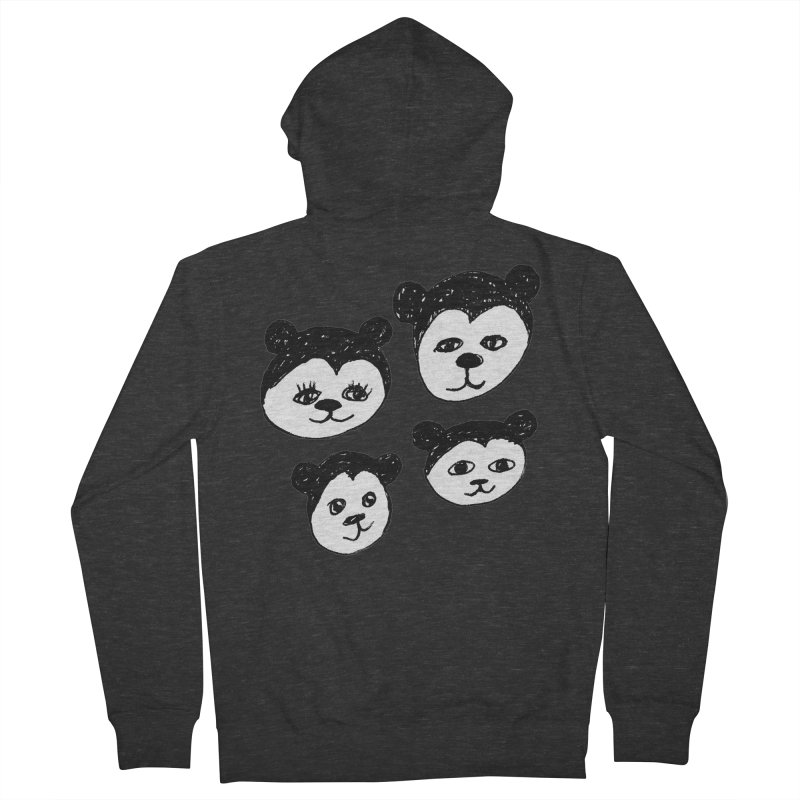 Panda Heads Women's Zip-Up Hoody by Cowboy Goods Artist Shop