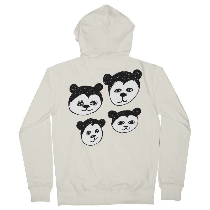 Panda Heads Women's French Terry Zip-Up Hoody by Cowboy Goods Artist Shop