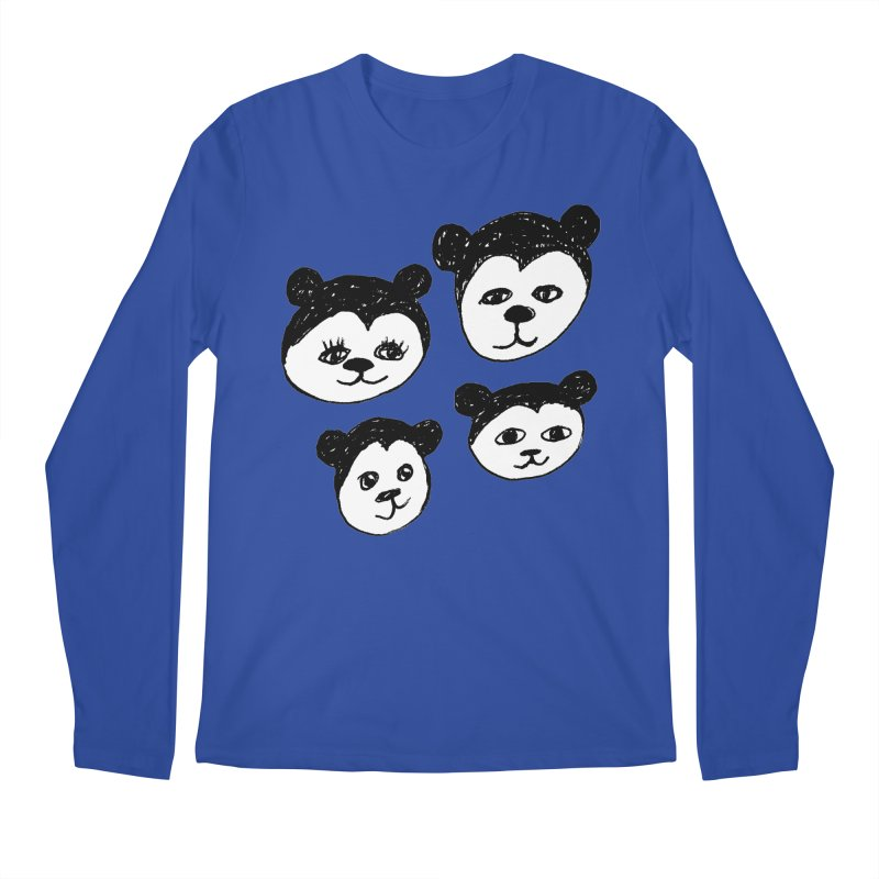 Panda Heads Men's Regular Longsleeve T-Shirt by Cowboy Goods Artist Shop