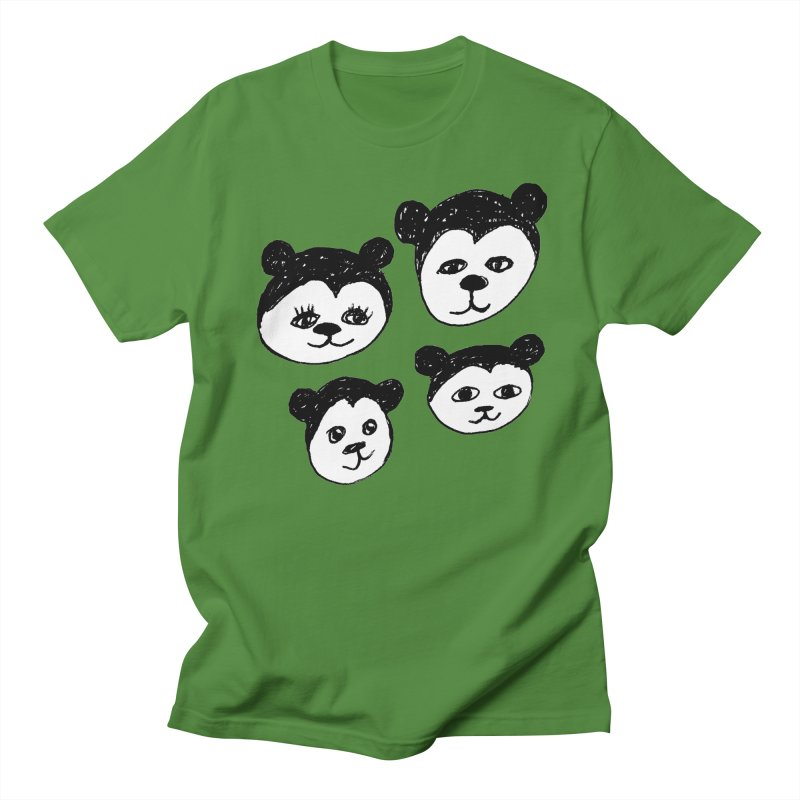 Panda Heads in Men's Regular T-Shirt Clover by Cowboy Goods Artist Shop