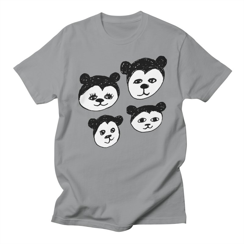 Panda Heads Men's Regular T-Shirt by Cowboy Goods Artist Shop