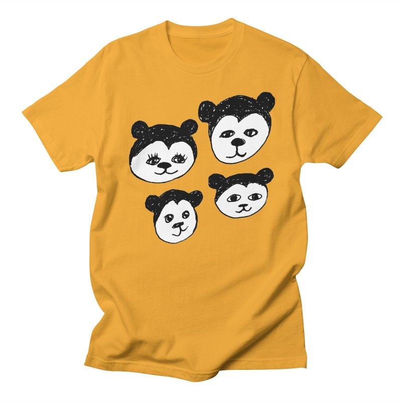 Panda Heads Men's Regular T-Shirt by Cowboy Goods Artist Shop
