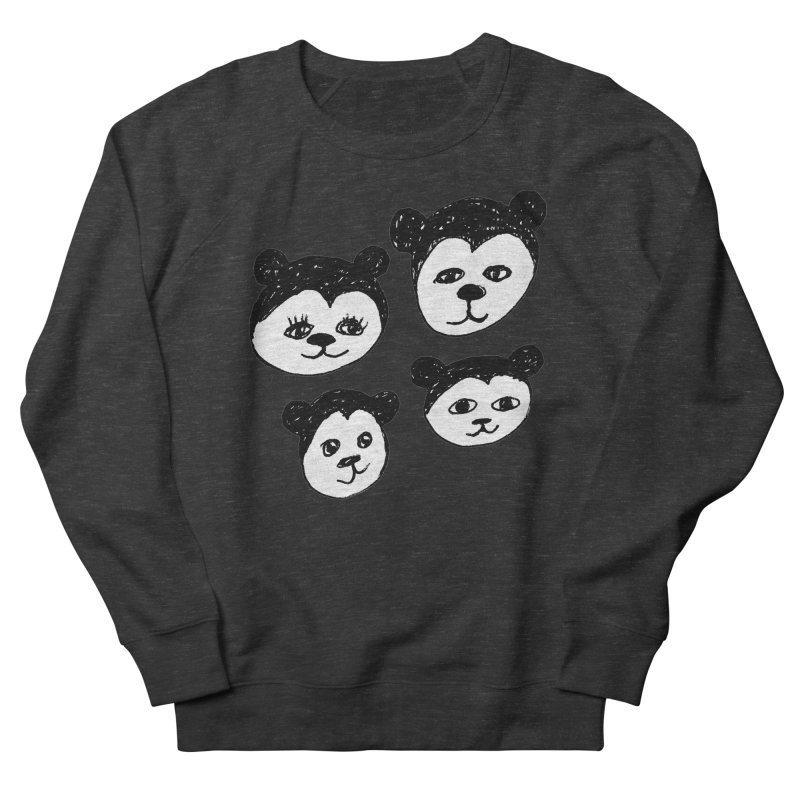 Panda Heads Women's Sweatshirt by Cowboy Goods Artist Shop