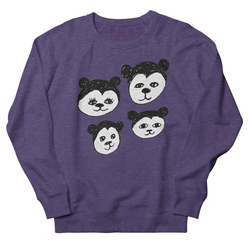 Panda Heads Women's Sweatshirt by Cowboy Goods Artist Shop