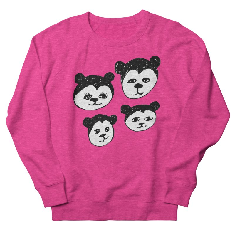 Panda Heads Men's Sweatshirt by Cowboy Goods Artist Shop