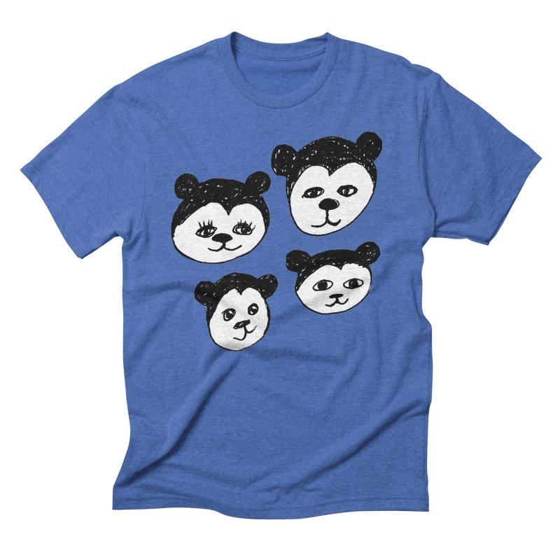 Panda Heads Men's Triblend T-Shirt by Cowboy Goods Artist Shop