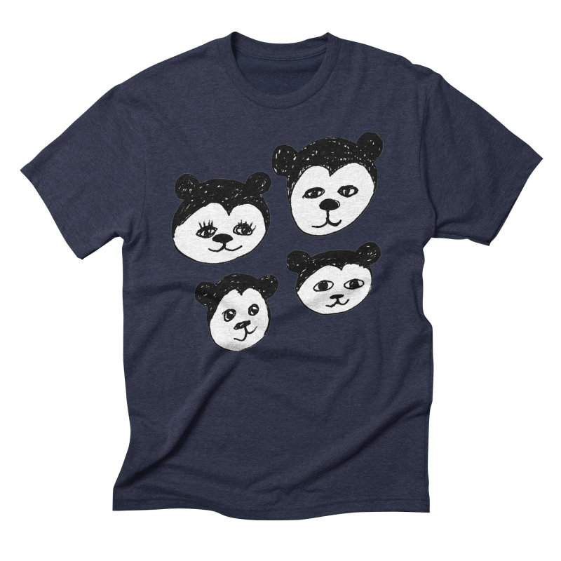 Panda Heads Men's Triblend T-Shirt by Cowboy Goods Artist Shop