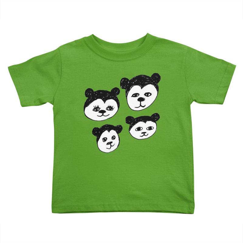 Panda Heads Kids Toddler T-Shirt by Cowboy Goods Artist Shop
