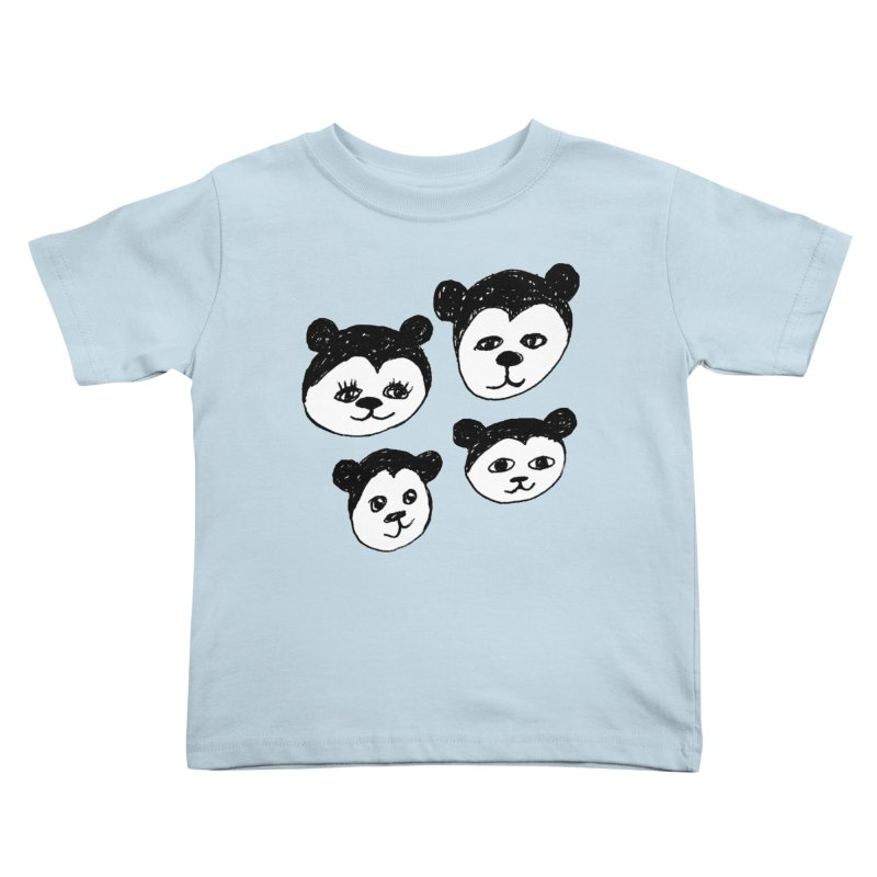 Panda Heads Kids Toddler T-Shirt by Cowboy Goods Artist Shop