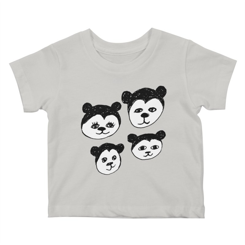 Panda Heads Kids Baby T-Shirt by Cowboy Goods Artist Shop