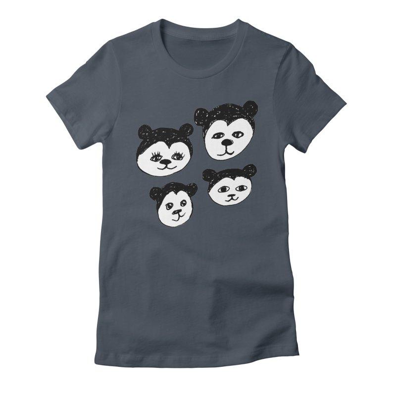 Panda Heads Women's T-Shirt by Cowboy Goods Artist Shop