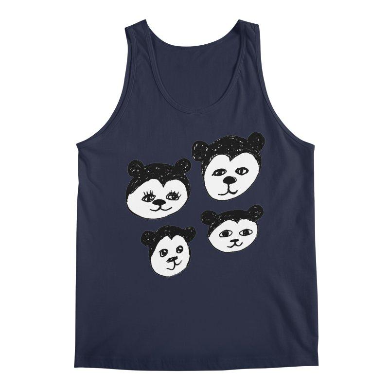 Panda Heads Men's Regular Tank by Cowboy Goods Artist Shop