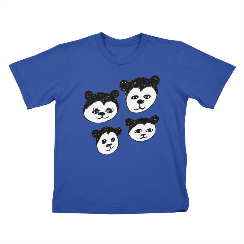 Panda Heads Kids T-shirt by Cowboy Goods Artist Shop