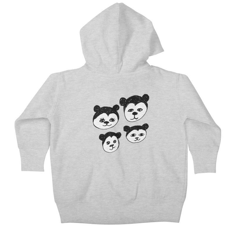Panda Heads Kids Baby Zip-Up Hoody by Cowboy Goods Artist Shop