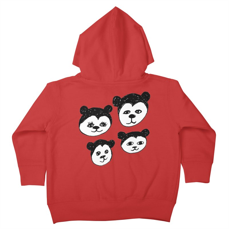 Panda Heads Kids Toddler Zip-Up Hoody by Cowboy Goods Artist Shop