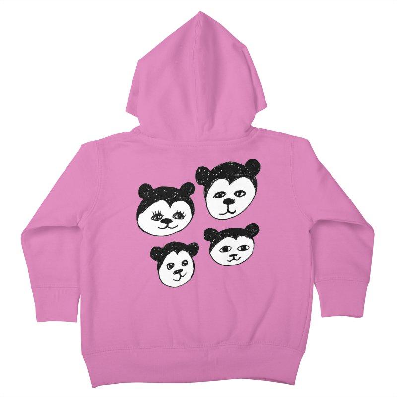 Panda Heads Kids Toddler Zip-Up Hoody by Cowboy Goods Artist Shop