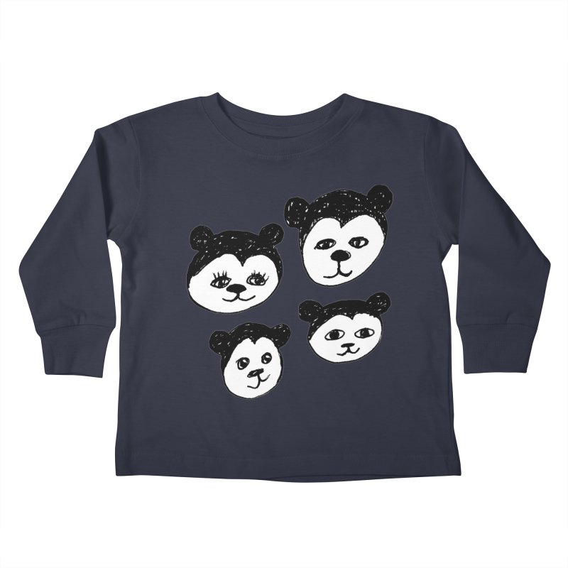 Panda Heads Kids Toddler Longsleeve T-Shirt by Cowboy Goods Artist Shop