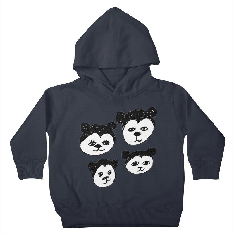 Panda Heads Kids Toddler Pullover Hoody by Cowboy Goods Artist Shop