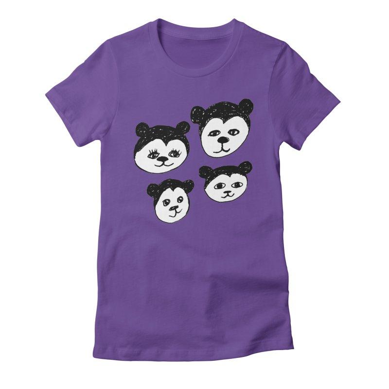 Panda Heads Women's  by Cowboy Goods Artist Shop