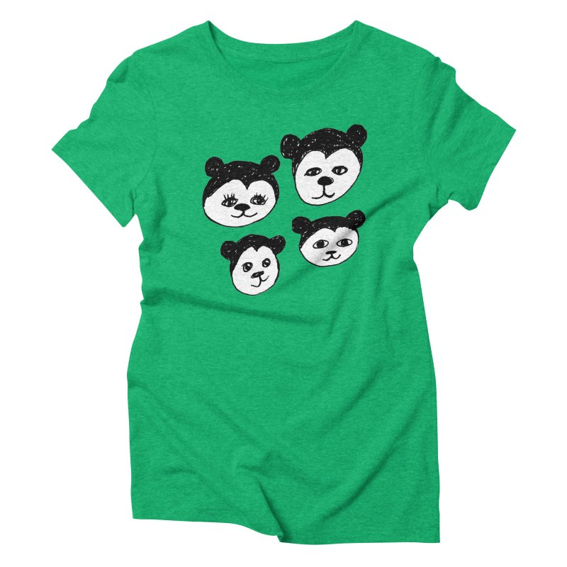 Panda Heads Women's  by Cowboy Goods Artist Shop