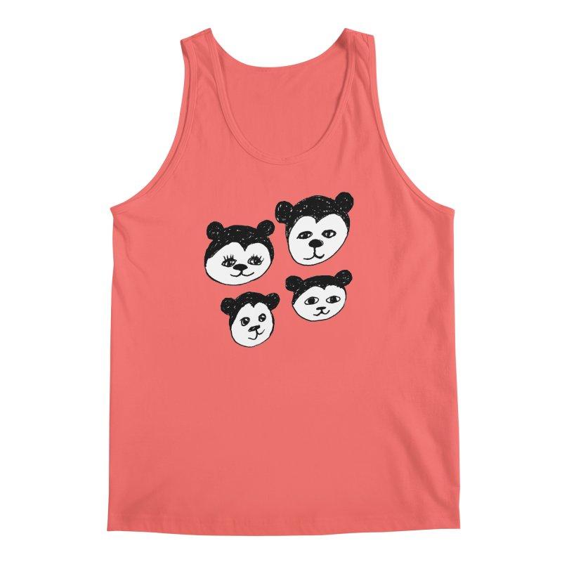 Panda Heads Men's Tank by Cowboy Goods Artist Shop
