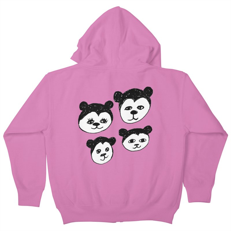 Panda Heads Kids Zip-Up Hoody by Cowboy Goods Artist Shop