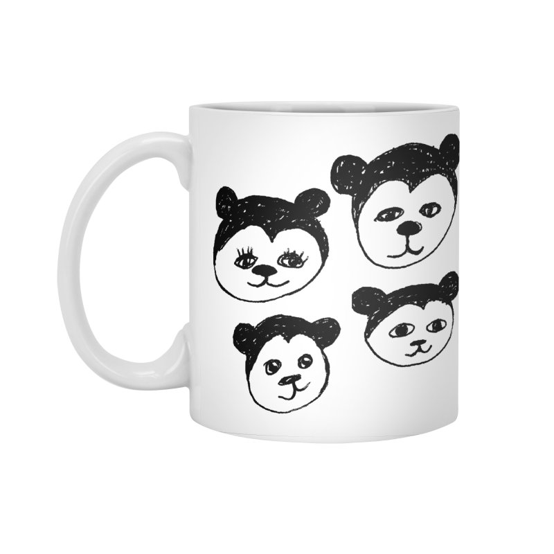 Panda Heads Accessories Standard Mug by Cowboy Goods Artist Shop