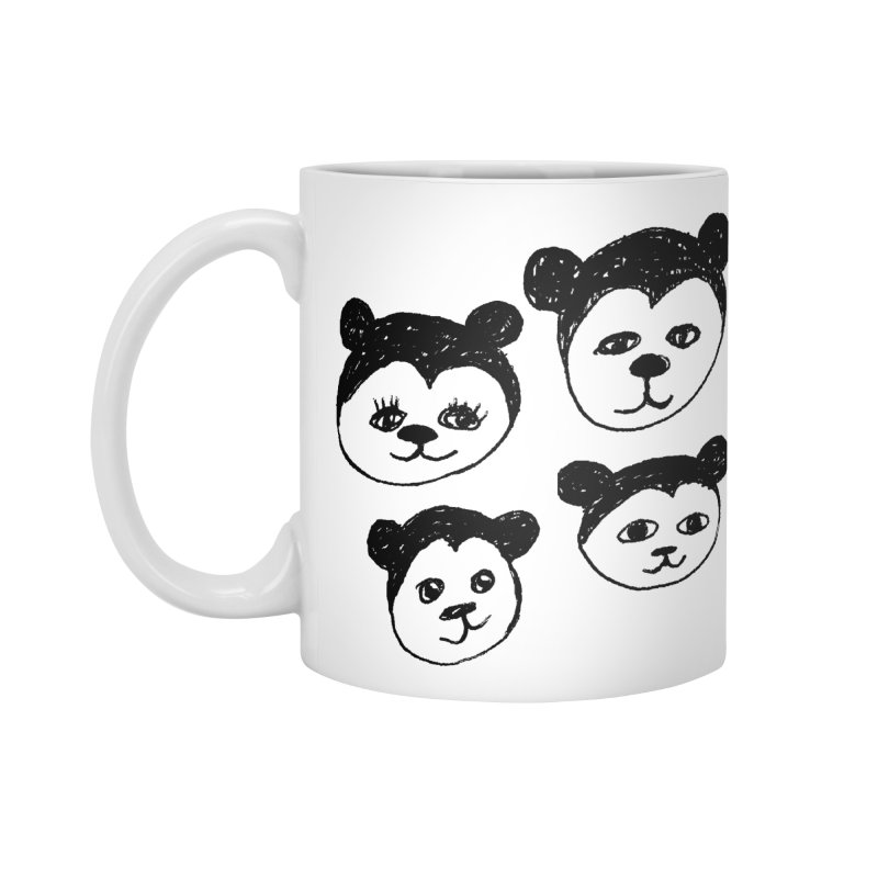 Panda Heads Accessories Mug by Cowboy Goods Artist Shop