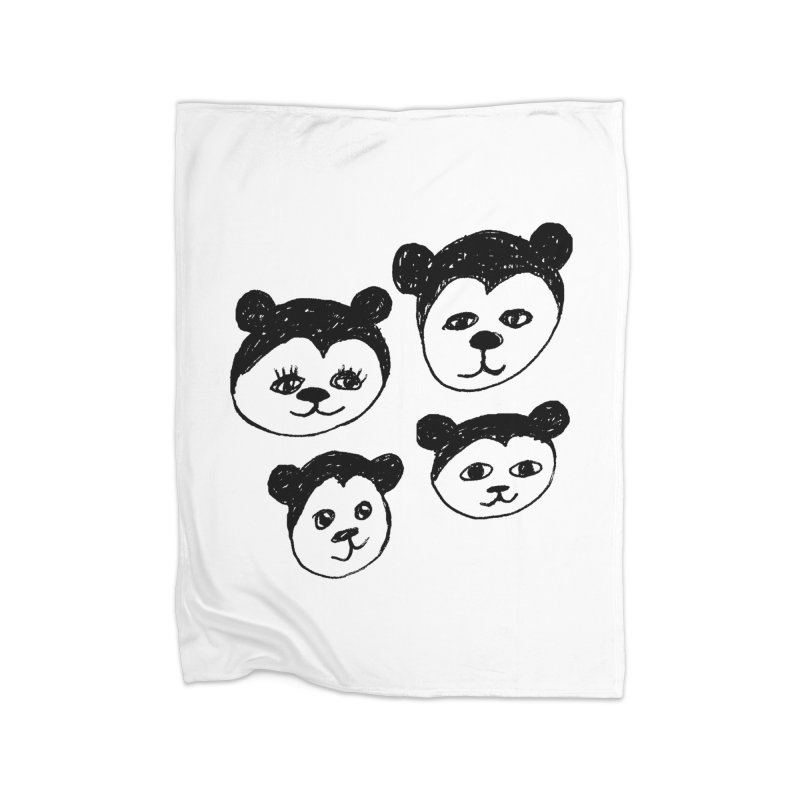 Panda Heads Home Blanket by Cowboy Goods Artist Shop