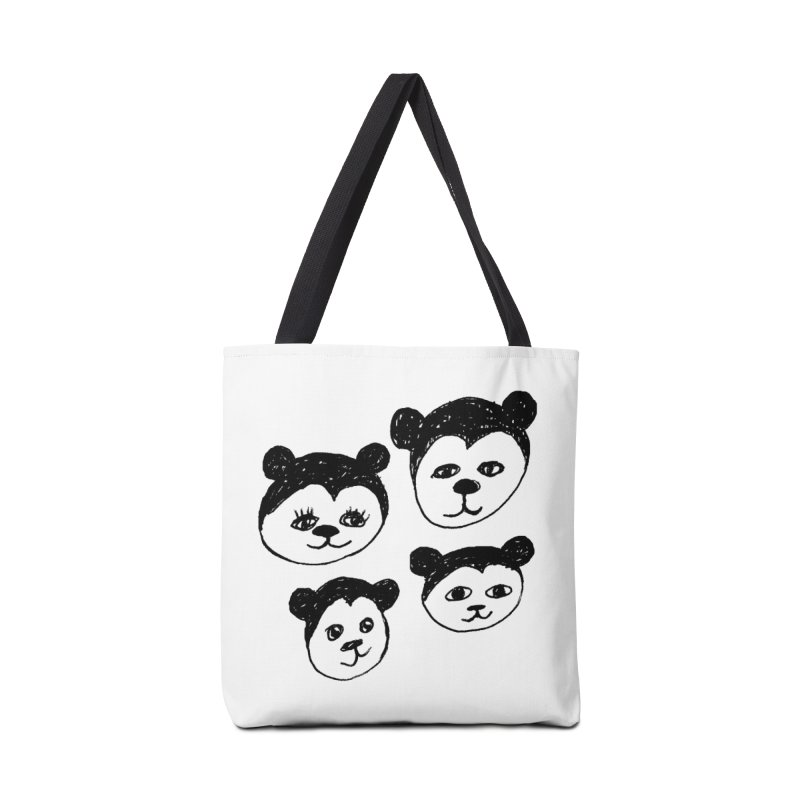 Panda Heads Accessories Tote Bag Bag by Cowboy Goods Artist Shop