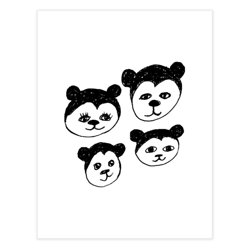 Panda Heads Home Fine Art Print by Cowboy Goods Artist Shop