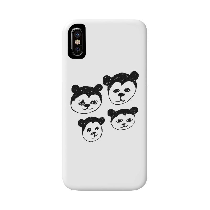 Panda Heads Accessories Phone Case by Cowboy Goods Artist Shop
