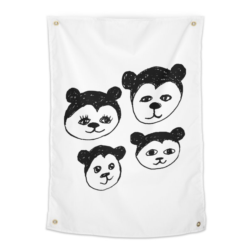Panda Heads   by Cowboy Goods Artist Shop
