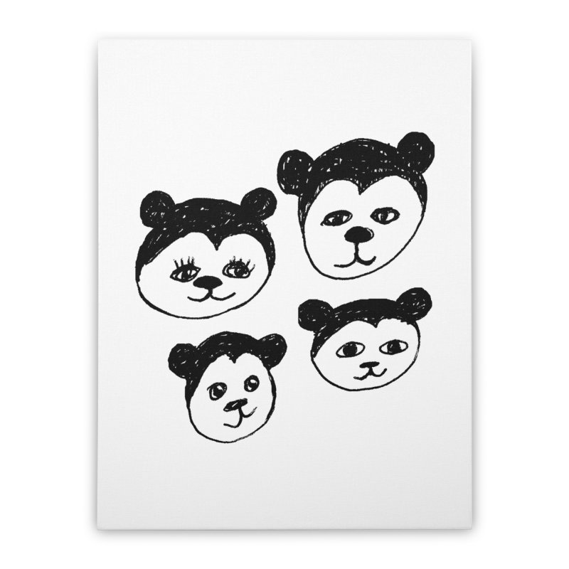 Panda Heads Home Stretched Canvas by Cowboy Goods Artist Shop
