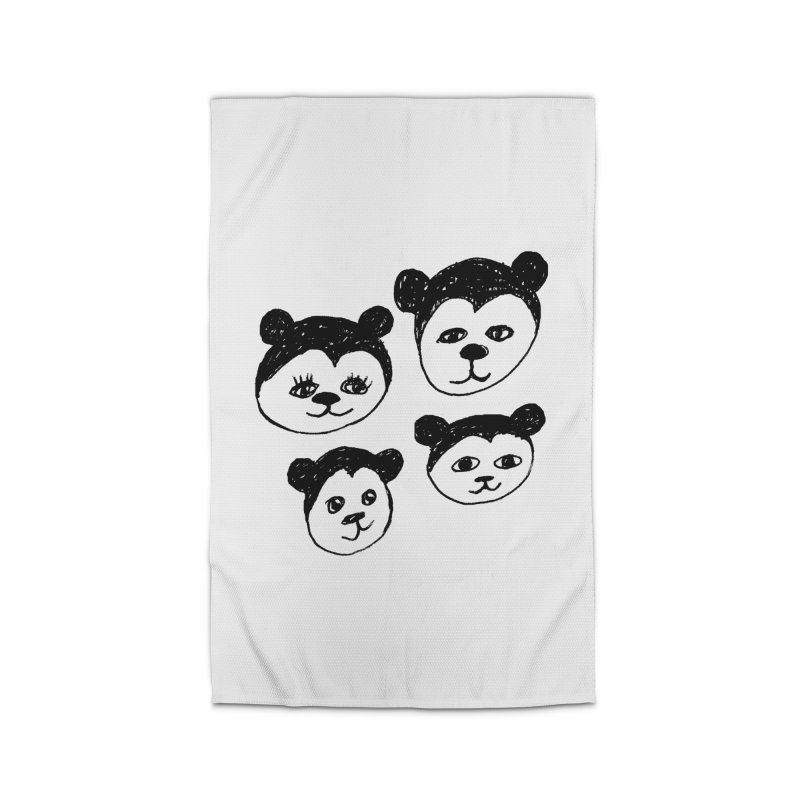 Panda Heads Home Rug by Cowboy Goods Artist Shop