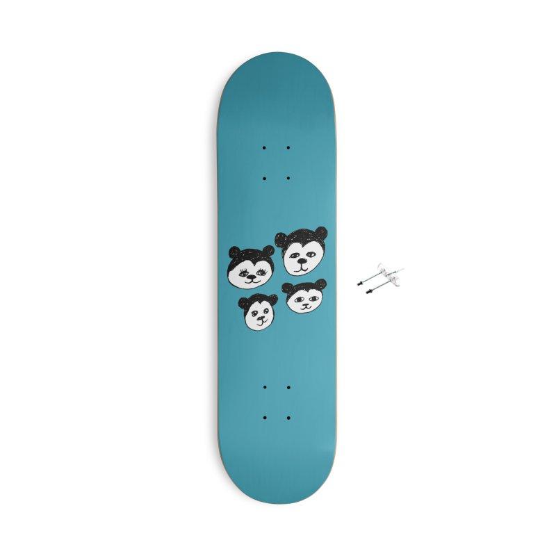 Panda Heads Accessories Skateboard by Cowboy Goods Artist Shop