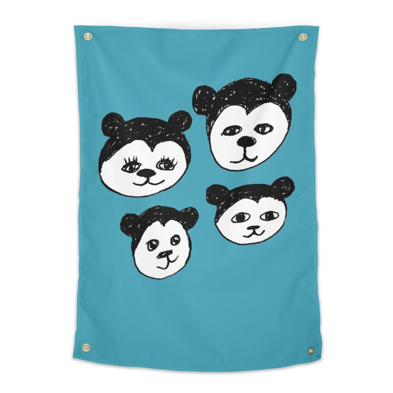 Panda Heads Home Tapestry by Cowboy Goods Artist Shop