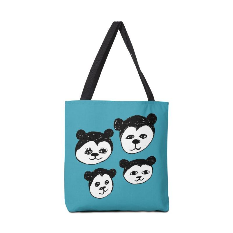 Panda Heads Accessories Bag by Cowboy Goods Artist Shop