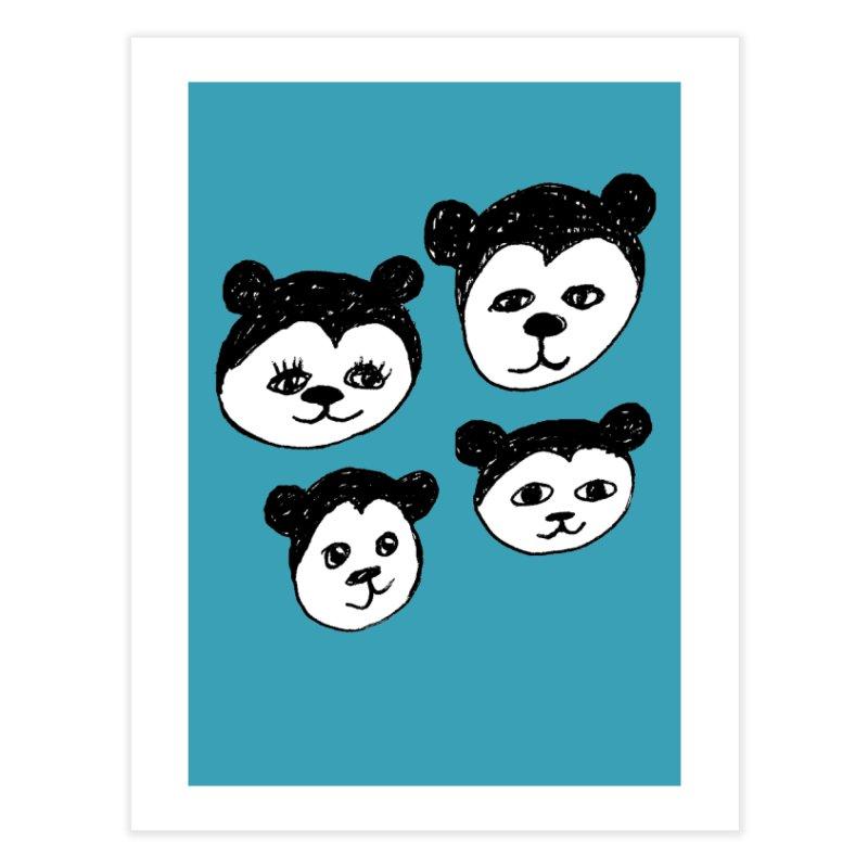 Panda Heads Home Fine Art Print by Cowboy Goods Artist Shop