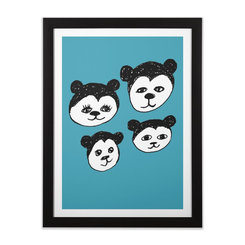 Panda Heads Home Framed Fine Art Print by Cowboy Goods Artist Shop