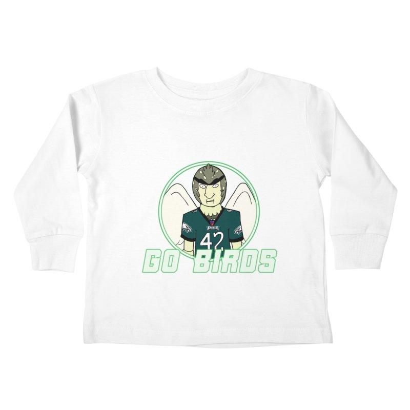Go, Birds Kids Toddler Longsleeve T-Shirt by Christopher Walter's Artist Shop