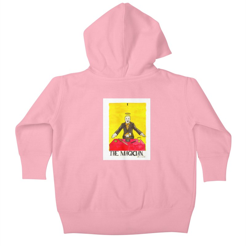 The Magician Kids Baby Zip-Up Hoody by Christopher Walter's Artist Shop