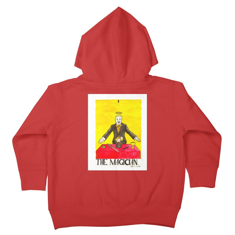 The Magician Kids Toddler Zip-Up Hoody by Christopher Walter's Artist Shop