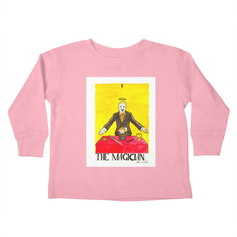 The Magician Kids Toddler Longsleeve T-Shirt by Christopher Walter's Artist Shop