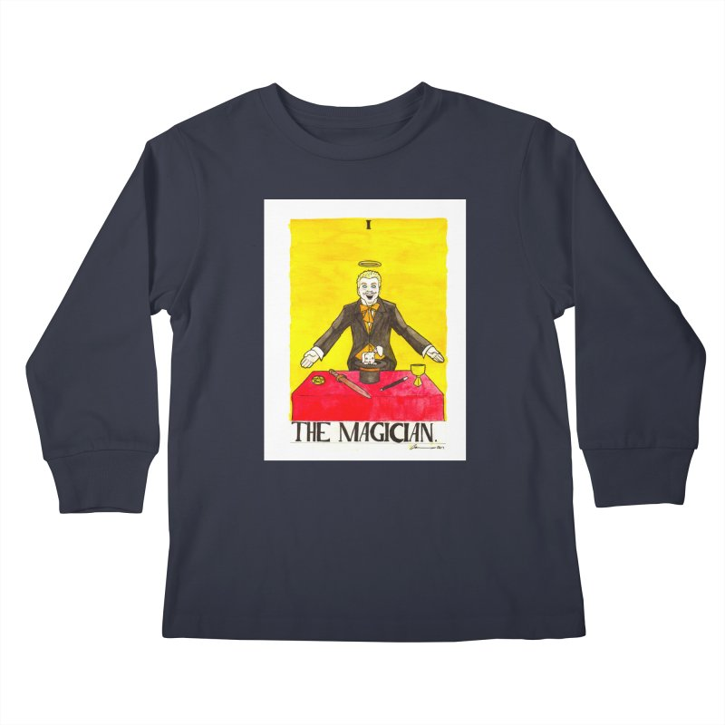 The Magician Kids Longsleeve T-Shirt by Christopher Walter's Artist Shop