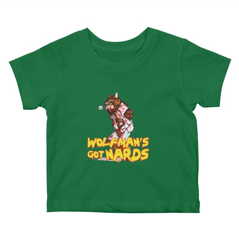 Wolfman's Got Nards Kids Baby T-Shirt by Christopher Walter's Artist Shop