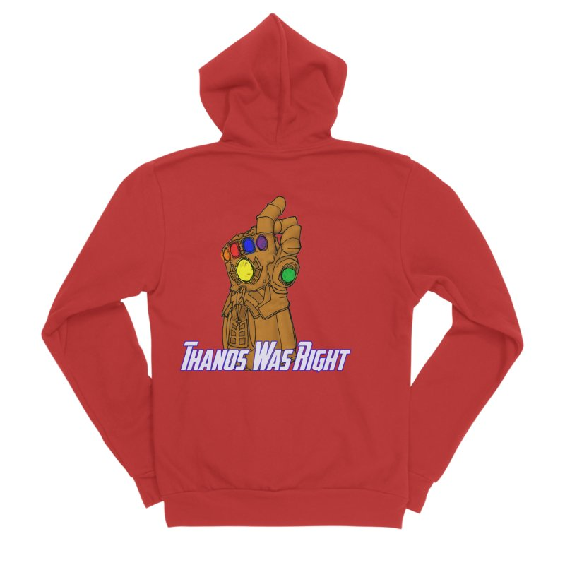 Thanos Was Right Women's Zip-Up Hoody by Christopher Walter's Artist Shop