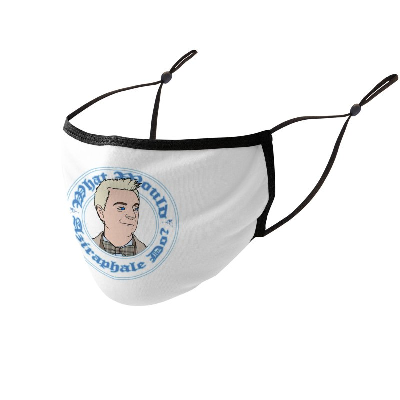 What Would Aziraphale Do? Accessories Face Mask by Christopher Walter's Artist Shop