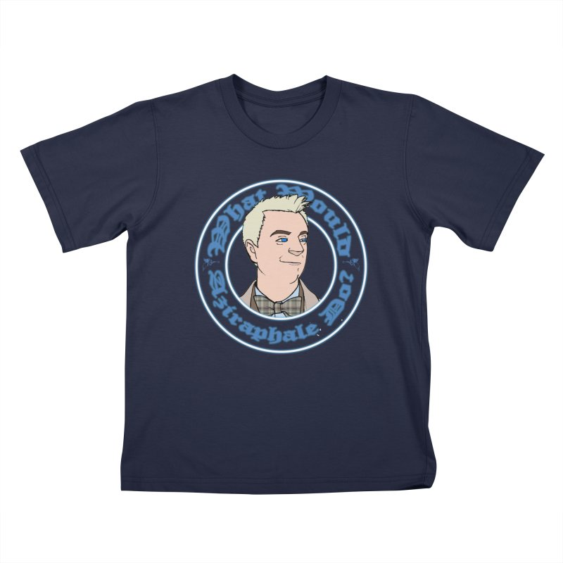 What Would Aziraphale Do? Kids T-Shirt by Christopher Walter's Artist Shop